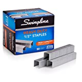 Swingline Staples, Heavy Duty, 90-Sheet Capacity, 1/2 Length, 100/Strip, 5000/Box, 1 Box (79392)
