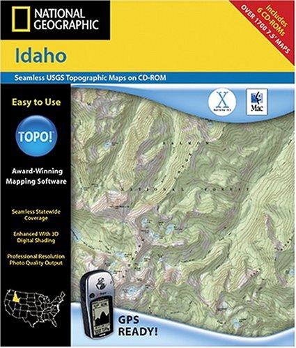National Geographic TOPO! Idaho Map CD-ROM (Mac)