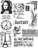 Stampers Anonymous Tim Holtz Cling Rubber Stamp Set 7 by 8.5-Inch, Mini Classics