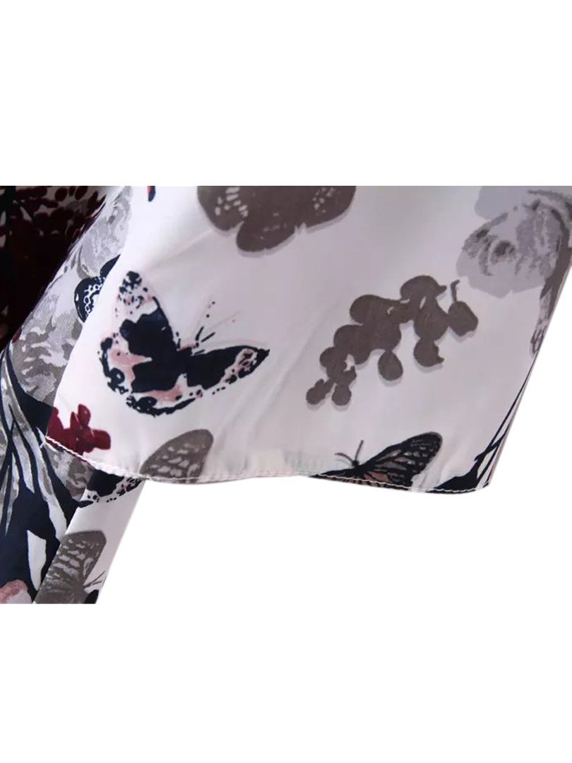 Choies Women's Chiffon Floral Kimono Loose Kimono Cardigan Blouse 4