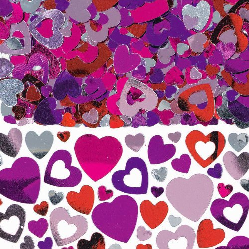 Amscan Lots of Hearts Lovely Party Confetti Pack, 5 oz, Purple/Pink/Violet