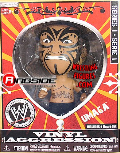 UMAGA VINYL AGGRESSION SERIES 1 WWE JAKKS 3 INCH ACTION FIGURE TOY - 1