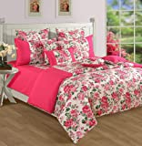 Swayam Shades N More Printed Cotton Double Duvet Cover - Pink (TSR02-1428)