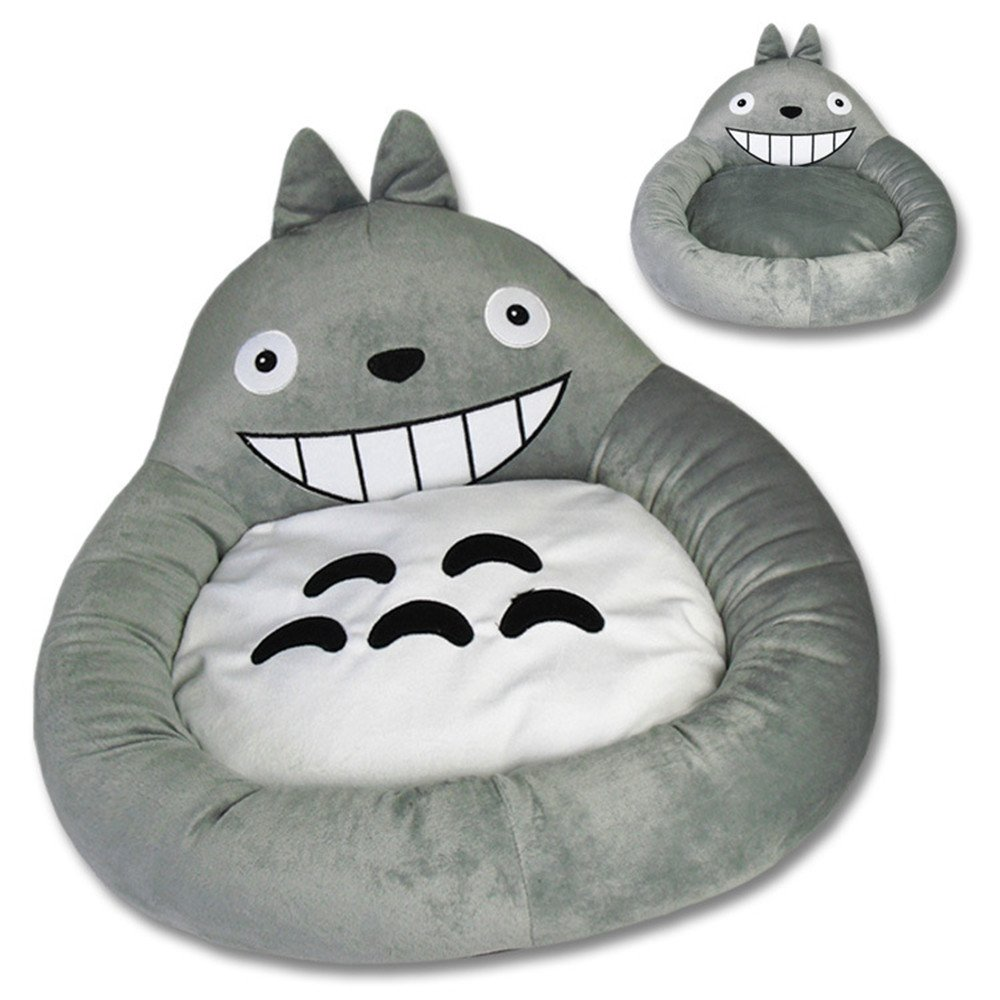 My Neighbor Totoro Fancy Dog Beds Sofa Pet Bed with Removable Pet Mat Dog House for Cats, Small and Medium Dogs