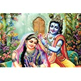 BikriKendra Krishna Loves Radha Poster Ll Size 30 Cm X 45 Cm Ll