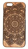 Genuine Maple Wood Mandala Lotus Overflow Snap-on Cover Hard Case for Iphone 6