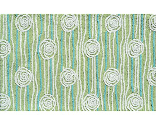 The Rug Market 71133B Handmade Rugs, Rosalita Green, Multicolor