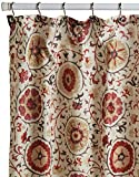 Regal Home Collections Suzani Printed Shower Curtain, Red/Multi