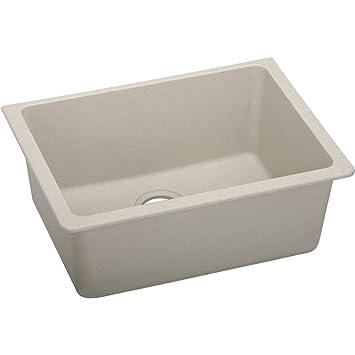 """Elkay ELGU2522PT0 Granite 25"""" x 18.5"""" x 9.5"""" Single Bowl Undermount Kitchen Sink, Putty"""