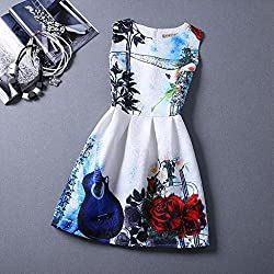 Cozer Creation Floral Printed western wear White And Blue Dress Material