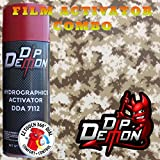 Combo Kit Desert Storm Tiger Stripe Digital Camo Camouflage Hunting Hydrographic Water Transfer Film Activator Combo Kit Hydro Dipping Dip Demon (Tamaño: 16oz Can of Activator + 20