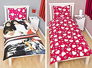 One Direction 1DSH1 - Edredón para cama 90 (reversible), diseño de One Direction Sweetheart
