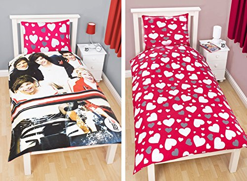 Set ufficiale One Direction 'Sweetheart' copripiumino singolo reversibile, regalo (1DSH1)