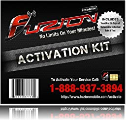 Fuzion Mobile Activation Kit with Sim Card and 30 days Nationwide Unlimited Talk and Text