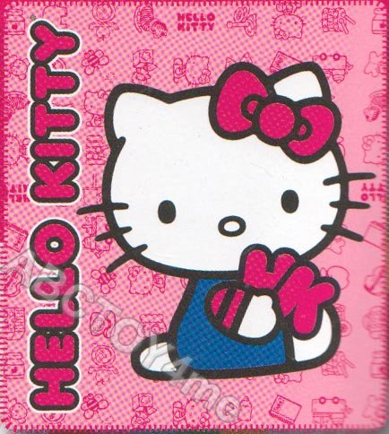 Hello Kitty HK Family Plush Throw Pink/Red Blanket 50 X 60 In