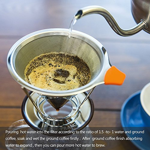 Pour-Over-Coffee-Filter-E-PRANCE-Cone-Coffee-Dripper-Paperless-Permanent-188-304-Stainless-Steel-double-mesh-Pour-Over-Coffee-Maker-with-Stand-for-1-4-cups