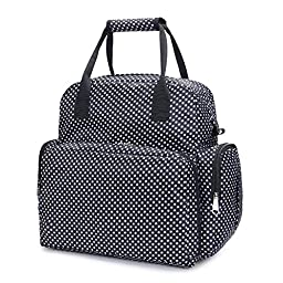 Lovelybaby Diaper Bag - Travel Bassinet Baby Diaper Tote Bag Bed Nappy Infant Carrycot Crib Cot Nursery Portable Change Table Portacrib Boy Girl (Black)
