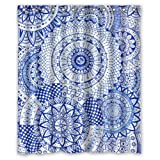 "Yestore Superior Custom Mandala Paisley Damask WaterProof Polyester Fabric 60"" x 72"" Shower Curtain"