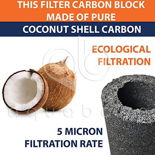 1 Year RO Units Replacement Filter Kit 5 PACK Carbon+Sediment+Inline by Aquaboon