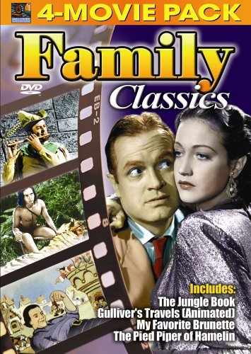 Family Classics 4-Movie Pack - Jungle Book, Gulliver's Travels (Animated) , My Favorite Brunette, Pied Piper of Hamelin