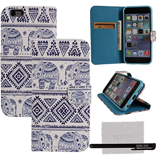 xhorizon® India Style Elephant PU Leather Wallet Case Cover For 4.7