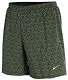 "Nike Men's 7"" Pursuit 2 In 1 Printed Running Shorts-Offblack/Volt"