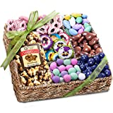 Golden State Fruit Spring Chocolate, Sweets, and Treats Gift Basket, 24 Ounce