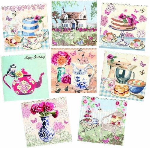 Classy Shabby Chic Designer Blank Birthday Greeting Cards