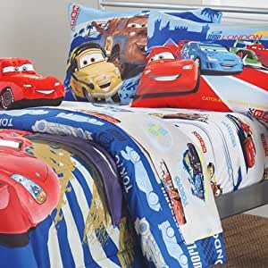 Disney Cars Track Burn 4pc Full-Double Bed Sheet Set