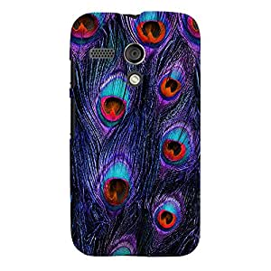 ColourCrust Motorola Moto G Mobile Phone Back Cover With Peacock Feather Pattern Style - Durable Matte Finish Hard Plastic Slim Case