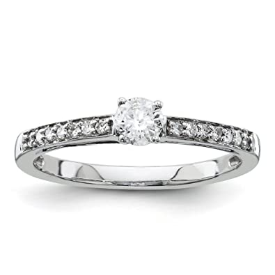 14ct White Gold Diamond Engagement Ring