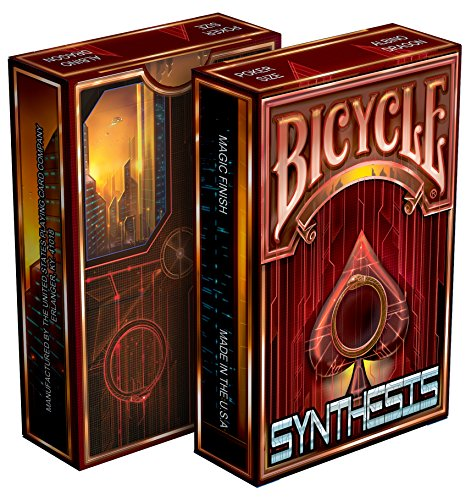 Synthesis - Cyberpunk Themed Bicycle Playing Cards (Red)
