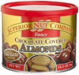 Superior Nut Fancy Chocolate Covered Almonds, 10.5-Ounce Canisters (Pack of 6)