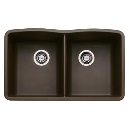 Blanco BL440182 Diamond Equal Double Bowl, Cafe Brown