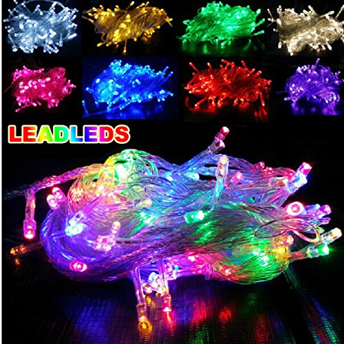 Decorative 10M Or 33Ft Color Led Light Strips, 100 Units Leds, Flexible, Daylight + Nightlight (110V Plug Included)
