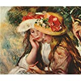 Tallenge Old Masters Collection - Two Girls Drawing By Pierre-Auguste Renoir - A3 Size Premium Quality Rolled...
