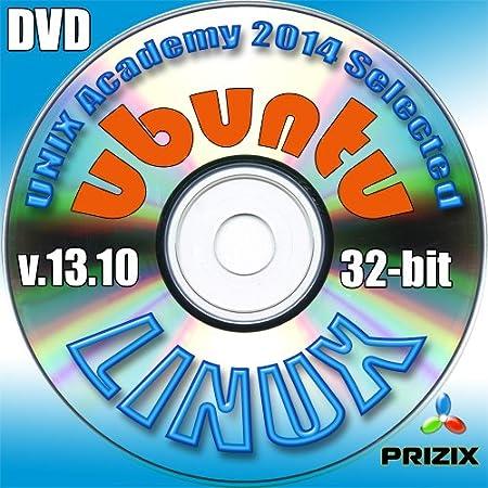 Ubuntu 13.10 Linux DVD 32-bit Full Installation Includes Complimentary UNIX Academy Evaluation Exam