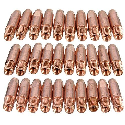 10-PC-MB-24-kd-M6-MIGMAG-Schweibrenner-Kontakt-Tipp-Gas-Dse-081012mm-Gre-12mm