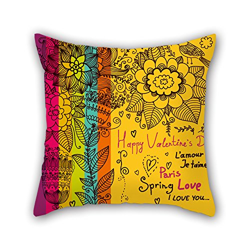 Loveloveu The Love Throw Pillow Case Of 20 X 20 Inches / 50 By 50 Cm Decoration Gift For Home Office Bar Living Room Club Wedding Home (both Sides)