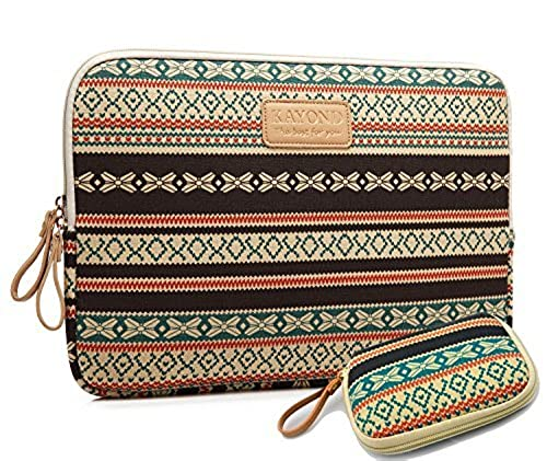 14. kayond®new Bohemian Style Canvas Fabric 17-17.3 Inch laptop Sleeve Case Bag Cover for Notebook Computer / Apple MacBook / MacBook Pro (17 inch)