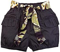 Oye Girl'S Short With Belt - Navy (4-5Y)