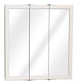 "Zenith W30 29.63"" X 25.75"" X 4.5"" White Tri-View Medicine Cabinet"
