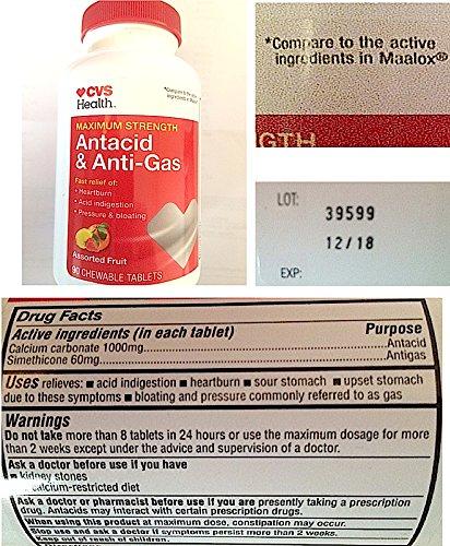 cvs-brand-compared-to-maalox-90-maximum-chewable-tablets-antacid-antigas-new