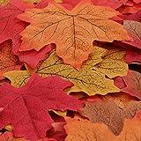 Luxbon 落ち葉 紅葉 造花 飾り 秋の装飾 秋の飾り 部屋飾り 暖かい雰囲気 150枚入り [並行輸入品]