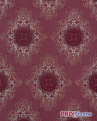 Tapete barock edem 826 29 hochwertige tapete barock for Tapete rot silber