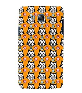 printtech Cute Cartoon Cat Back Case Cover for Samsung Galaxy J7 (2016 )