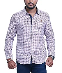 PP Shirts Men Cotton Casual Shirt ( Multicolor XXXXXL )