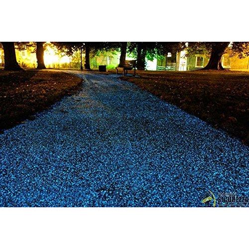 Drops Sassi luminosi di resina fotoluminescente colore Blu Sky per arredo 50/100 pezzi - Blu Sky, 100 sassolini