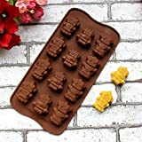 Okayji Silicone Bakeware Mould for Chocolate and Ice Cube 12 Cavity Chocolate Mold BakeWare Robot