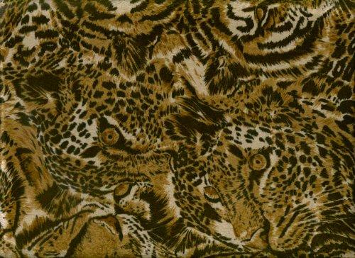 3 Pcs Microsuede Queen Size Futon Cover Set - Animal Print